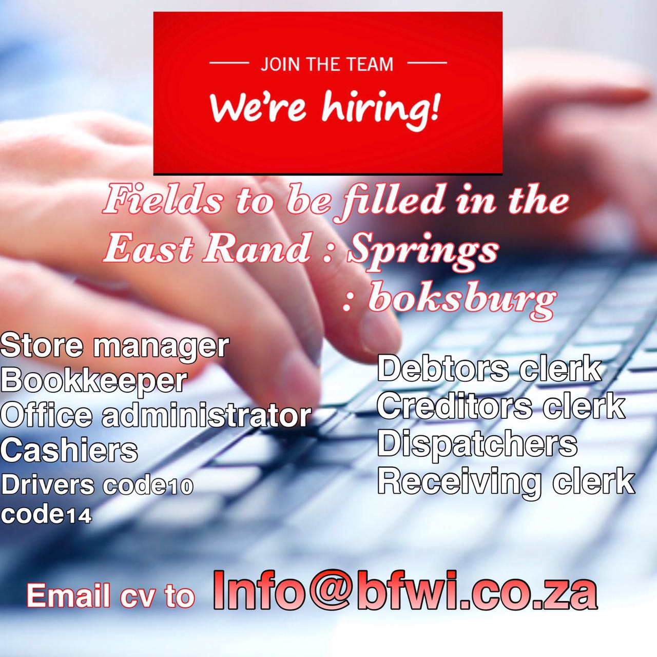 Find accounting jobs in East Rand Jobs | Search Gumtree Free Online Classified Ads for accounting jobs in East Rand Jobs and more.