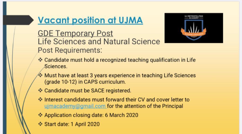 Teacher vacancy